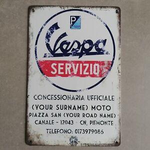 Blechschild - Vespa Servizio - Retro