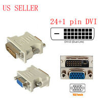 DVI-D 25 PIN MALE TO VGA 15 PIN FEMALE CONVERTER VIDEO ADAPTER_HIGH QUALITY