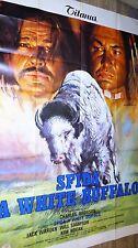 LE BISON BLANC The White Buffalo c bronson rare modele affiche cinema western