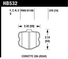 Hawk Performance HB532U.570 Unbeatable Pad And Rotor Wear Disc Brake Pads
