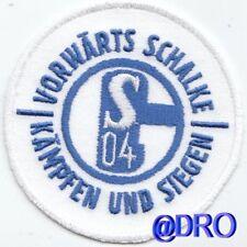 Aufnäher + Aufbügler + Schalke 04 + Vorwärts Schalke - kämpfen und siegen + NEU