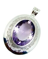 captivating Amethyst 925 Sterling Silver Purple Pendant Natural supplies US gift
