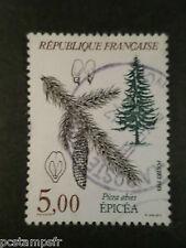 FRANCE 1985, TP 2387, FLORA, FLORE, ARBRES, PICEA ABIES, oblitéré, TREE STAMP