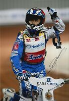 NICKI PEDERSEN HAND SIGNED 12x8 PHOTO SPEEDWAY WORLD CHAMPION 7.