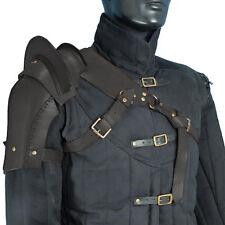 Warrior Single Black Leather Pauldron, M, L, Armour, Steampunk, Medieval, LARP