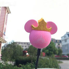 Cute Pink Crown Minnie Antenna Balls Car Aerial Ball Antenna Topper Decor Ball
