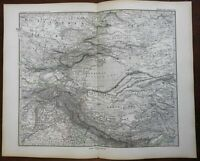 Northern India Himalayas Tibet Gobi Desert 1878 Petermann detailed map