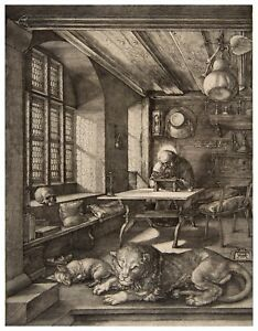Albrecht Durer St. Jerome in His Study paper or canvas reproduction