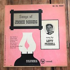 "LEFTY FRIZZELL SONGS OF JIMMIE RODGERS 10""LP"
