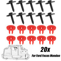 20pcs Car Engine Undertray Cover Clips Bottom Cover Shield Guard For Ford Focus