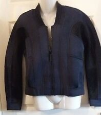 NEXT SZ 10 OUTWEAR NAVY THICK BONDED ZIP BOMBER STYLE COSY JACKET BNWT RRP £60