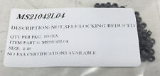 MS21042L04 SELF LOCKING NUT  SIZE:4-40 DRY FILM LUBED PACKAGE OF 100/EA