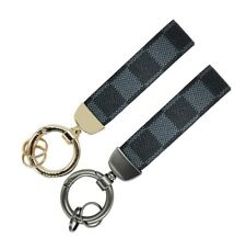 Anderse vallet Black Checkered Keychain For Men Women 2 Pack Easy Release