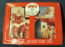 Vtg 1994 Coca-Cola Santa Playing Cards 4 Decks Collectable Tin 11th in Series