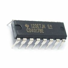 5PCS Texas Instruments CD4017BE CD4017 CMOS Decade Counter with 10 Decoded Outs