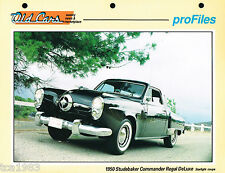 1950 Studebaker COMMANDER REGAL Deluxe Data Spec Sheet / Brochure / Photo
