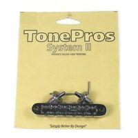 TonePros T3BP-B Imperial Locking Bridge, Small Posts, Black