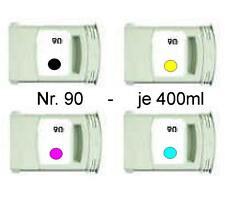 4 Tinte für HP DesignJet 4000 4020 4500PS / Nr. 90 / C5058A C5061A C5063A C5065A