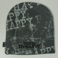 Men's Duck Dynasty Gray White HAPPY Beanie Stocking Hat Cap NEW TV Show