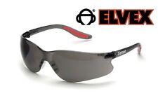 Elvex Xenon Lot of 3 Pair Smoke Lens Safety Glasses Sunglasses Black Red Z87.1