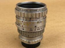 Eastman KODAK 25mm F/1.9 CINE EKTAR C Mount LENS,BOKEH GH4 BMCC BMPC Bolex RARE