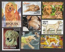 GOLDEN RETRIEVER ** Int'l Dog Stamp Art Collection ** Unique Gift Idea **