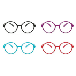 3/6/12 Pack Round Reading Glasses Readers Vintage Womens Mens +1.0 ~ 4.0 DFA784