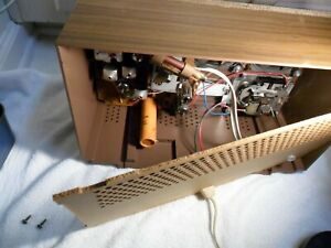 GE 60's tube AM FM vintage clock radio