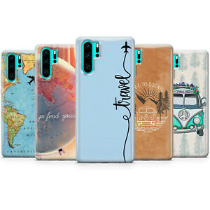 Travel, travelers phone case, map cover for Huawei P 20, 30, 40, Mate, Lite