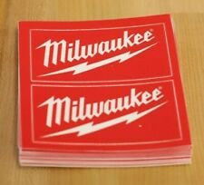 """Milwaukee Power Tools Hardhat Stickers """"Authentic"""" Ppe 1 set of 2 stickers"""
