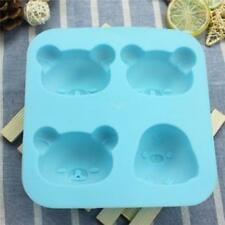 Cartoon Bear Head Silicone Mould Cupcake Cake Topper Decoration Mold HZ