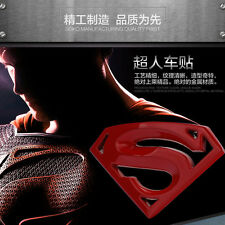 1 Pcs Chrome Superman Logo 3D Metal Auto Car Emblem Badge Bonnet Sticker Decal