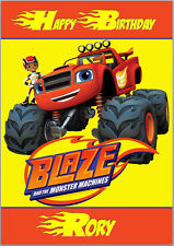 Blaze and the Monster Machines Birthday Card A5 Personalised own words