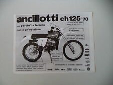 advertising Pubblicità 1978 MOTO ANCILLOTTI CH 125