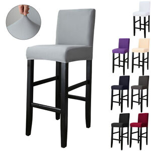 Stretch Barhocker Stuhlhussen Spandex Stuhlbezug Für Home Restaurant Pub Dekor