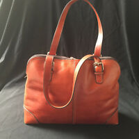 FOSSIL Vintage Large Orangeish Brown Leather Purse 75082