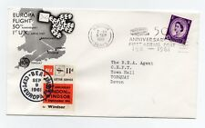 1961 50th Anniversary 1st Aerial Post Flight Cover With BEA 11d Air Letter Stamp
