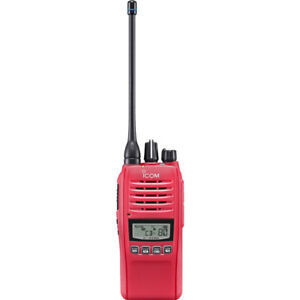 IC41PRO-RED iCom Special Edition Red UHF Ip67 80Ch Hand Held Radio Waterproof