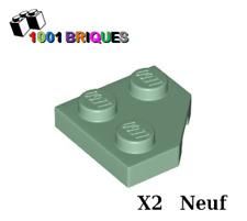 Lego 26601 x2 Wedge, Plate 2 x 2 Cut Corner Sand Green