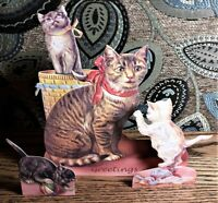 CAT & KITTENS 3D GREETING CARD DECORATION Rare! MINT/ Factory Sealed Shackman