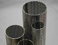 PERFORATED STAINLESS STEEL PIPE TUBE EXHAUST SILENCER REPAIR SECTION 32MM -76MM