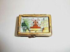 Peint Main Limoges Trinket-Puzzle Box