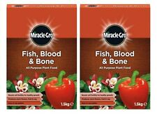 2 x Miracle-Gro Fish Blood & Bone All Purpose Plant Food 1.5kg Each