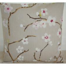 """16"""" Housse de Coussin Fleurs Roses Floral Blossom branches 16x16 Quartz Rose Beige"""
