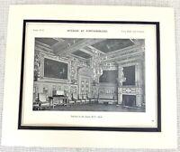 1903 Antico Stampa Chateau De Fontainebleau Francia Louis XIII Interno Decoro