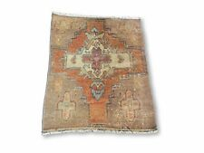 Oushak Small Rug, Oriental Rug, Aztec Rug, Hand Knotted Rug
