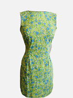 California Concepts Dress Size Small Green Blue Floral Shift Sleeveless