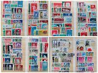 25 Sätze Briefmarken DDR **/o aus Lagernachlass ab 50er Jahre