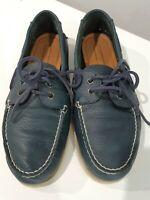 TOMMY HILFIGER TM Bowman Leather Blue Boat Shoes Mens Size US 9 EUR 42