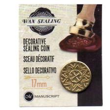 Manuscript Decorative Wax Sealing 17mm Coin Seal - Mandala